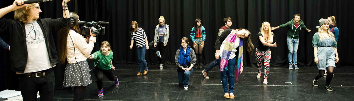 Drama group in the John Thaw Studio Theatre