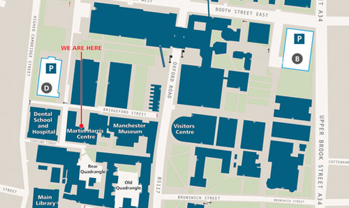 University Of Manchester Campus Map Getting here   Martin Harris Centre   The University of Manchester
